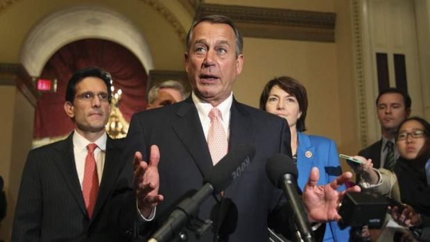 US House Speaker John Boehner: Tipping is that the Republicans cannot win this standoff.