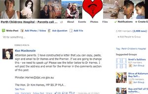 Over 2000 people signed up to the Facebook page in only one day, demanding more beds for Perth's Children Hospital.