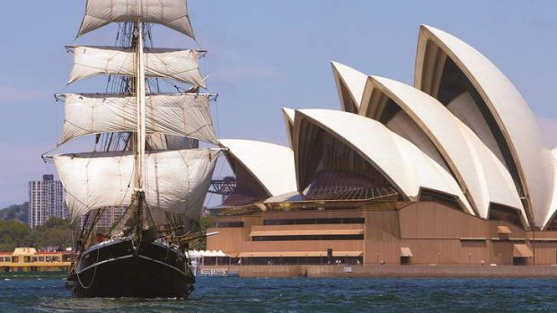 A blend of sails: tall ships will enter Sydney Harbour as part of the International Fleet Review.