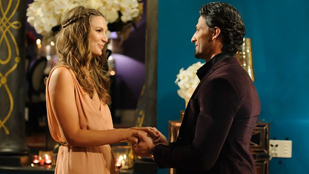 Her last episode ... Ashlee Crabbe confronts Tim Robards about his true feelings on <i>The Bachelor</i>.