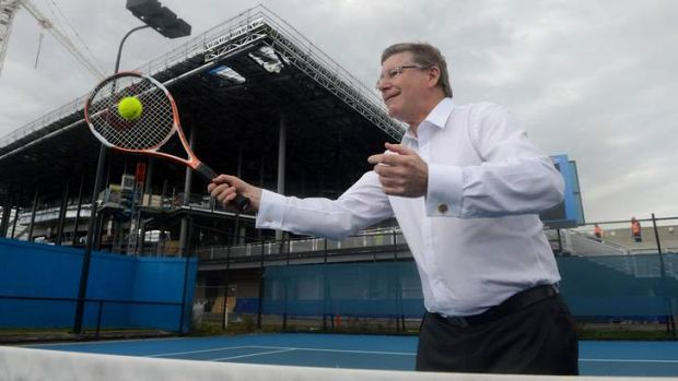 Premier Denis Napthine at Wednesday's Australian Open launch.
