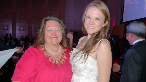 Allies: Gina Rinehart and daughter Ginia.