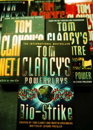 Prolific writer: A selection from Tom Clancy's body of work.