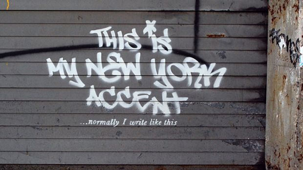Another Banksy work in the westside of Manhattan, from his month-long residency in New York.