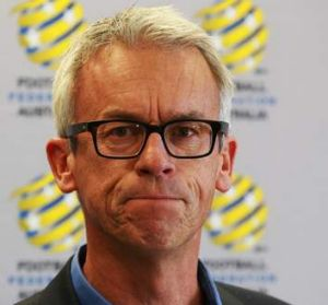 """There remain potholes in the road financially"": David Gallop, FFA chief."