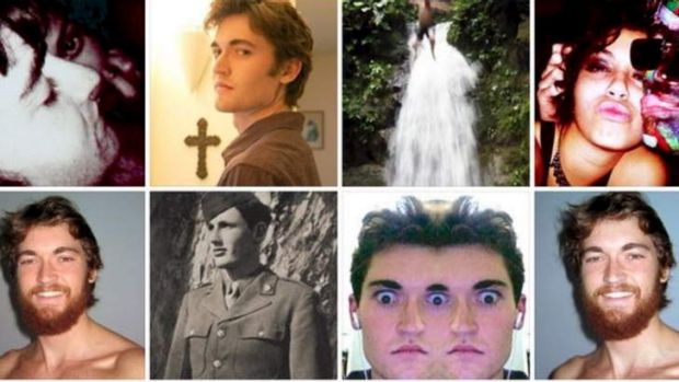 Hall of mirrors: Images of Ross William Ulbricht, who was arrested in San Francisco, taken from his Facebook page.