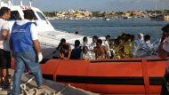 Hundreds are feared dead after a boat packed with over 500 migrants caught fire and sank off the coast of Italy. Here ...