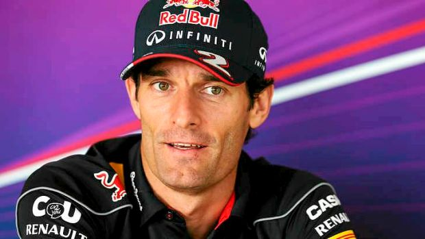 Mark Webber is more than 10kg heavier than his teammate Sebastian Vettel.