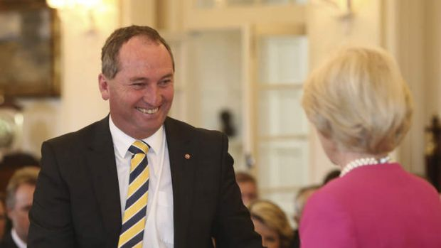 """""""Agriculture Minister Barnaby """"Boom-Boom"""" Joyce: to turn your wedding into the perfect occasion?"""""""