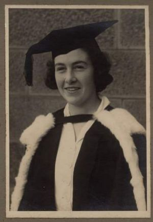 Marjorie Jacobs graduates from the University of Sydney in 1936.
