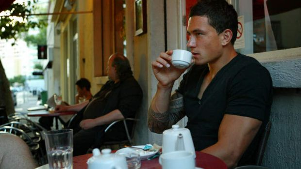 Away from the circus: Williams relaxing at a cafe in Toulon in 2008.