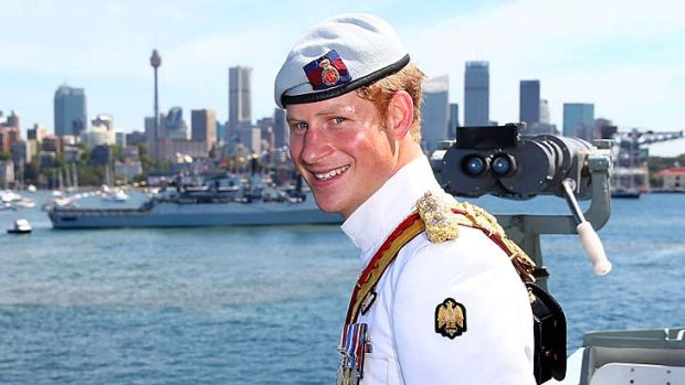 Don't hold the front page: Prince Harry.