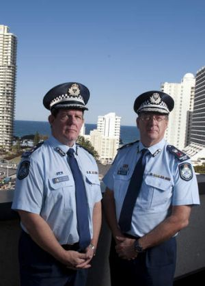 Commissioner Ian Stewart (right) beside Deputy Commissioner Brett Pointing (left) who will now lead a Statewide ...