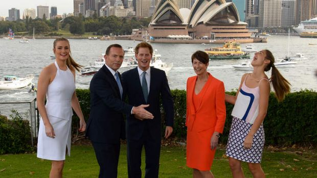 Prince Harry and the Abbotts.