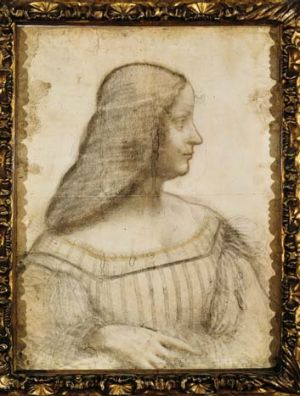 Discovery: Da Vinci's pencil sketch of Isabella d'Este.