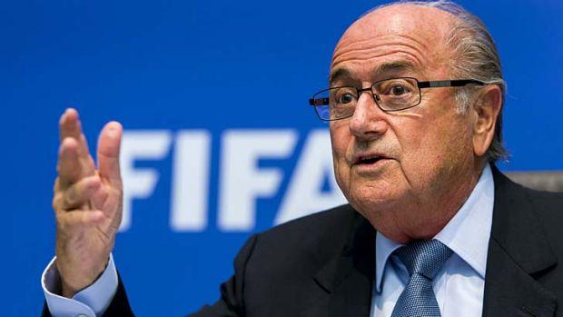 Sepp Blatter in Zurich.