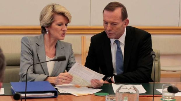 Claiming travel expenses: Minister for Foreign Affairs Julie Bishop and Prime Minister Tony Abbott.