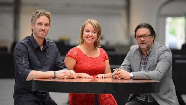 <i>Recipe to Riches</i> hosts: (left to right) Darren Robertson, Carolyn Cresswell and David Nobay.