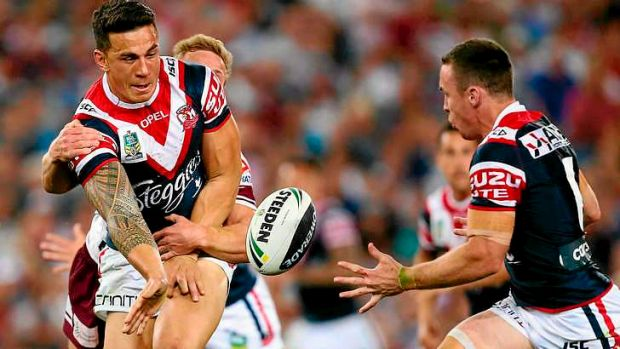 Sonny Bill Williams offloads  to James Maloney in the lead up to the try by Shaun Kenny-Dowell. The pair were integral ...