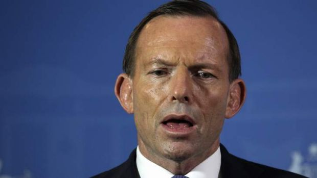 Prime Minister Tony Abbott addresses the media during a press conference in Bali.