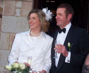 Peter Slipper and his wife Inge on their wedding day.