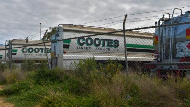 Cootes tankers at their Spotswood depot.