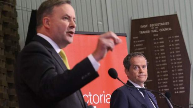 Labor leadership contenders Bill Shorten and Anthony Albanese.