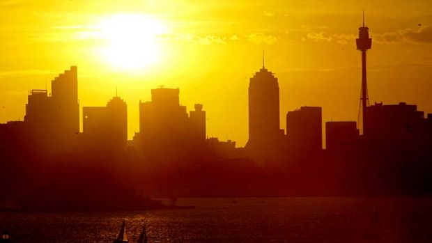 Hot in the city: Sydney is likely to swelter on Thursday with temperatures predicted to reach 40 degrees.