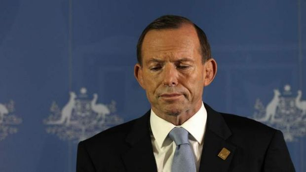 Prime Minister Tony Abbott addresses the media during a press conference, in Bali.