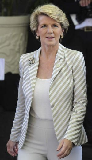 Overseas study: Australian Foreign Minister Julie Bishop (pictured), along with Barnaby Joyce and Teresa Gambaro ...