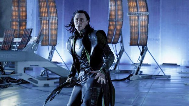 Villain ... Tom Hiddleston as Loki in <i>The Avengers</i> last year.
