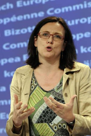 European Union Commissioner for Home Affairs Cecilia Malmstroem.