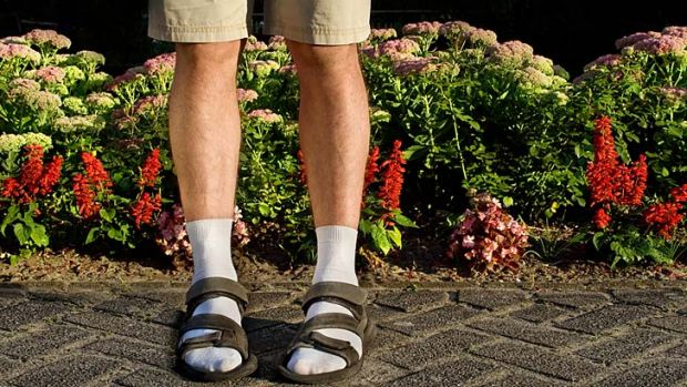 Fashion tragedy: Socks and sandals.  Thanks Germany.