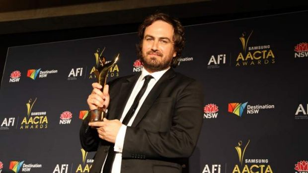 Justin Kurzel, here with his 2012 best director AACTA award for <i>Snowtown</i>, is attached to direct an adaptation of ...