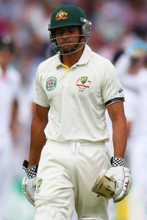 Lack of trust: Usman Khawaja was given out in Manchester despite there being no evidence the ball touched his bat.