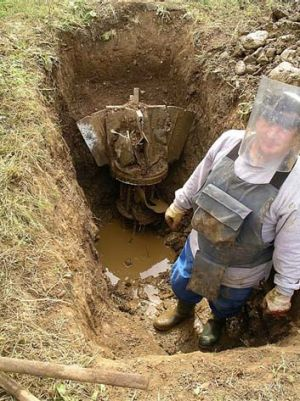 A mine is excavated in Kosovo.