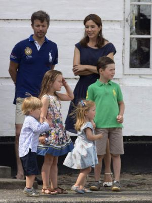 Domestic bliss … the royal couple with their children, Christian, 7, Isabella, 6, and two-year-old twins Vincent and ...
