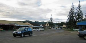 Testing times … Burnt Pine,  Norfolk Island's once-thriving commercial hub.