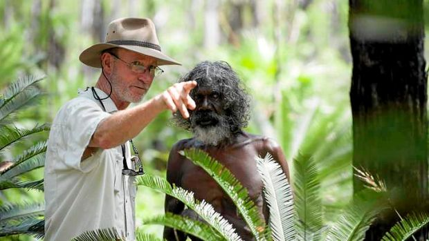 Rolf de Heer and David Gulpilil on the set of <i>Charlie's Country</i>.
