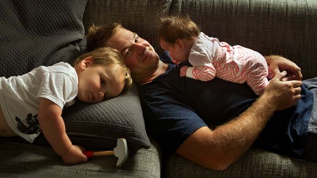 Marcus Ward took two weeks' paternity leave when daughter Zoe was born and found it a special time of bonding with his ...