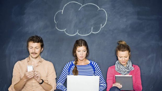 Life on a cloud: Teenage smartphone users can all too easily blow their data cap allowance.
