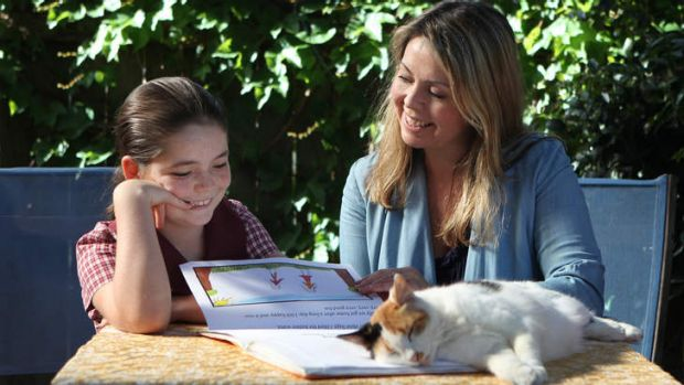 Community spirit: Privately educated Amy Miller has opted to send daughter Isabella to the local public school.