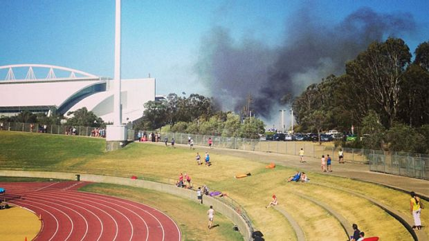 The Blaze At Homebush Viewed From Athletic Track