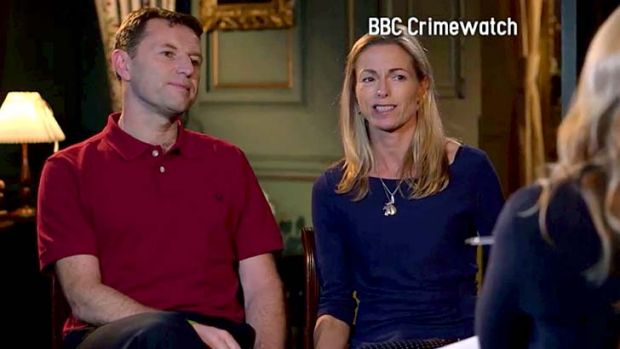 Parents of missing child Madelaine McCann, Gerry (left) and Kate McCann, speaking during an interview which will be ...