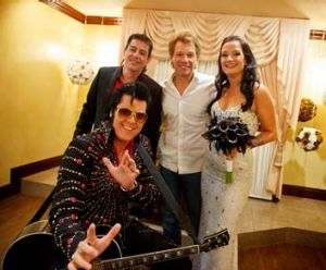 Of course they were married by an Elvis impersonator.