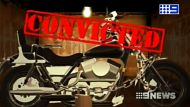 A graphic showing that bikes will be destroyed if bikies are convicted of criminal offences