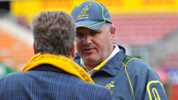 Ultimate test: Ewen McKenzie's Wallabies will be chasing their first win against the All Blacks in New Zealand in 12 ...