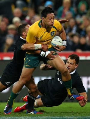 Injury blow: Wallabies inside-centre Christian Lealiifano.