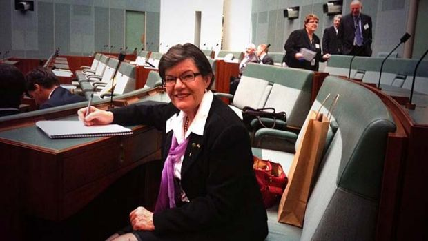 New independent MP Cathy McGowan in Canberra for the induction session.