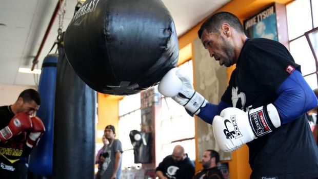 Ready for Mosley: Anthony Mundine trains ahead of his bout with Shane Mosley.